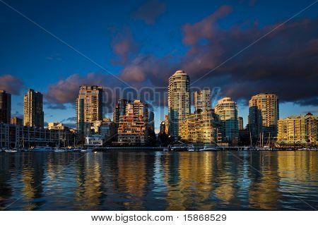 Vancouver Skyline at False Creek
