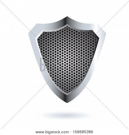 Perforated Shield Icon Design. AI 10 supported.