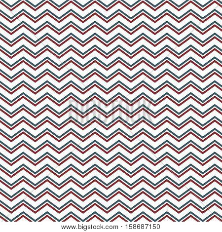 pattern with lines in zig zag vector illustration