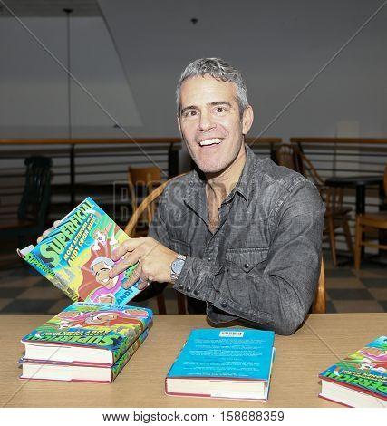 HUNTINGTON, NY-NOV 16: Andy Cohen signs copies of his book