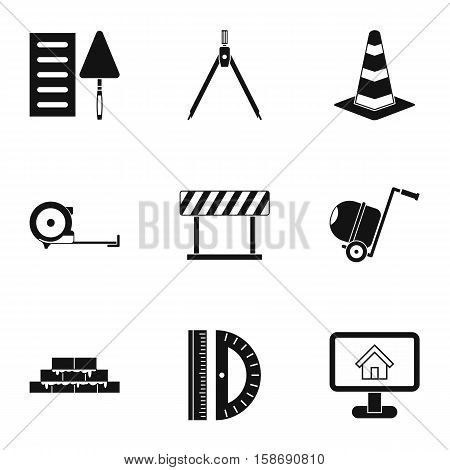 Repair tools icons set. Simple illustration of 9 repair tools vector icons for web