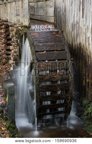 Water Wheel on Old Mill in Cades Cove