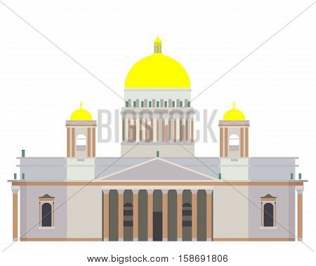 Vector Saint Isaac's Cathedral isolated on white