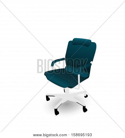 Illustration Office Chair Isolated on White Background - raster