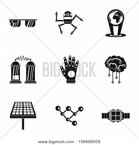 Computer latest devices icons set. Simple illustration of 9 computer latest devices vector icons for web