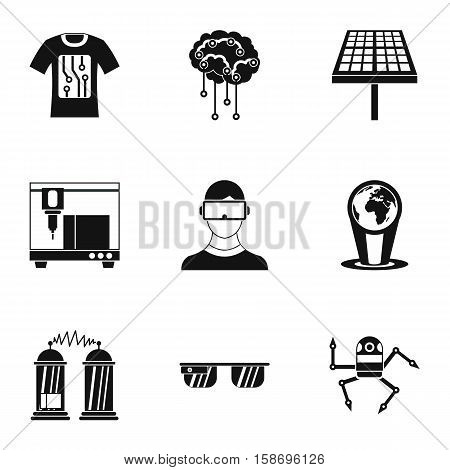 Innovative device icons set. Simple illustration of 9 innovative device vector icons for web