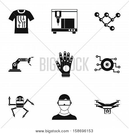 Latest electronic devices icons set. Simple illustration of 9 latest electronic devices vector icons for web