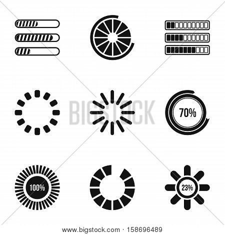 Sign download icons set. Simple illustration of 9 sign download vector icons for web