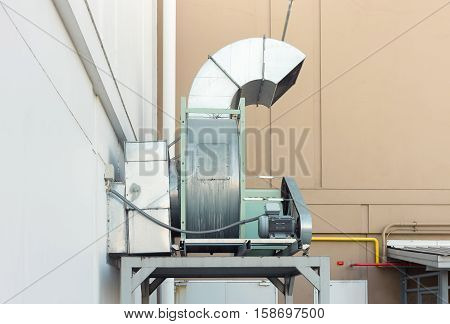 Air duct and HVAC system of industrial building.