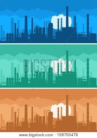 On the image presented industrial background concept of environmental pollution