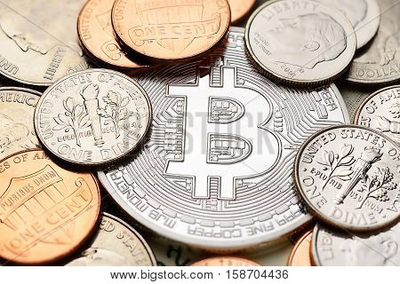 Silver Bitcoin And Cents