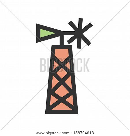 Farm, field, rural icon vector image. Can also be used for wild west. Suitable for mobile apps, web apps and print media.
