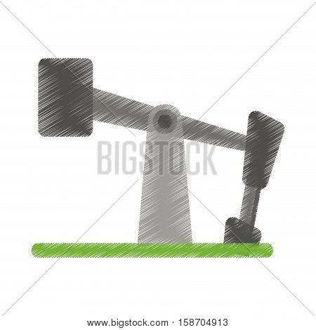 oil pump drilling petroleum industry ed vector illustration eps 10