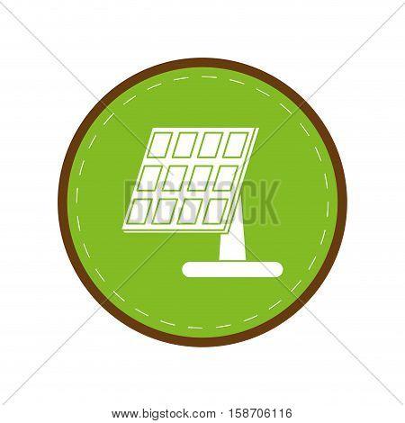 solar panel renewable energy alternative green circle vector illustration eps 10