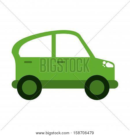 green car transport industry contamination icon vector illustration eps 10