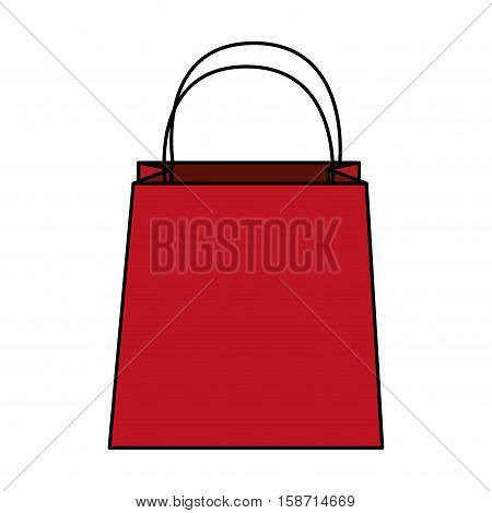 Shopping bag icon. Commerce market store and shop theme. Isolated design. Vector illustration