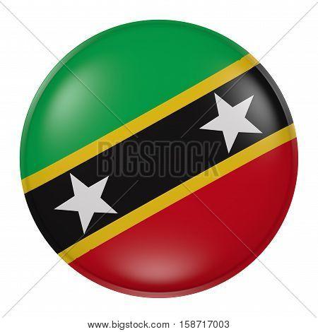 Saint Christopher And Nevis Flag Waving