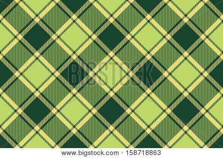 Green yellow avocado tartan fabric seamless texture. Vector illustration. Flat design. No gradient. No transparent. EPS 10.
