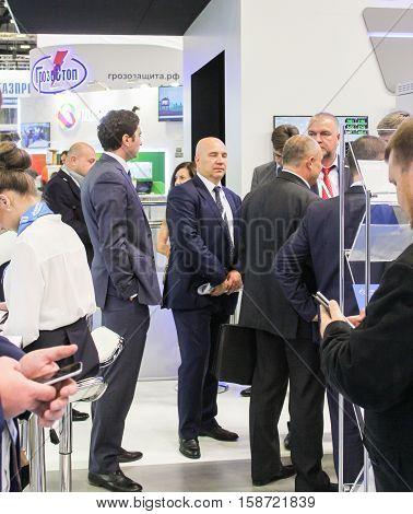 St. Petersburg, Russia - 5 October, Businessmen on the Gas Forum, 5 October, 2016. Petersburg Gas Forum which takes place in Expoforum.