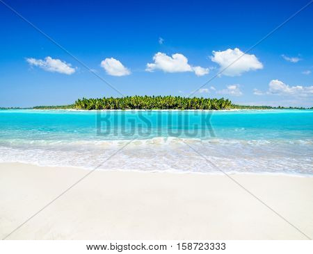 2013 on beach - concept holiday background
