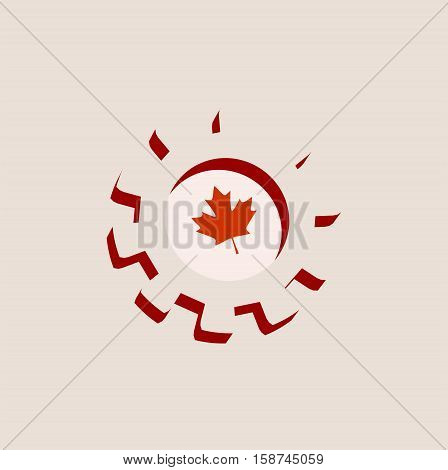 3D cog wheel with Canada flag. Precision machinery relative backdrop