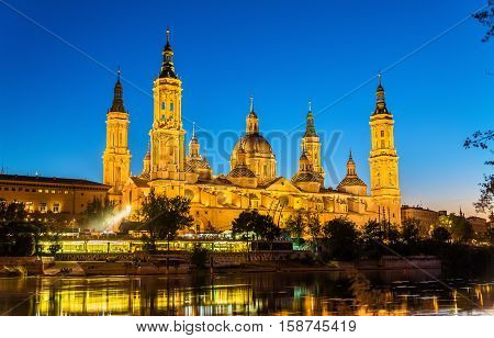 The Cathedral-Basilica of Our Lady of the Pillar in Zaragoza - Spain