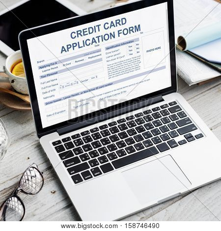 Credit Application Form Occupation Career Work Concept