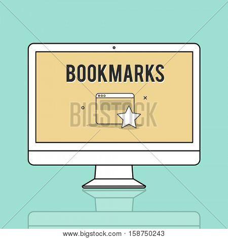 Bookmarks Favorite Internet Social Media