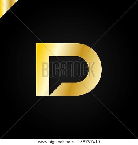 Letter D And Letter P Logo. Pd, Dp Initial With Chat Icon Letter Logotype
