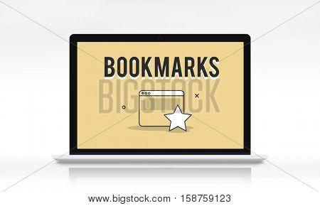 Bookmarks Favorite Internet Social Media Concept