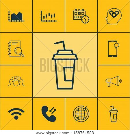 Set Of 12 Universal Editable Icons. Can Be Used For Web, Mobile And App Design. Includes Icons Such As Cellular Data, Appointment, Analysis And More.