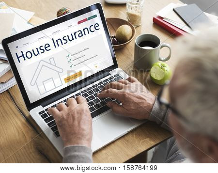 Senior House Insurance Application Concept