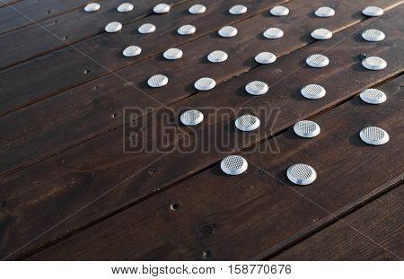 Flooring With Steel Anti-slip Elements