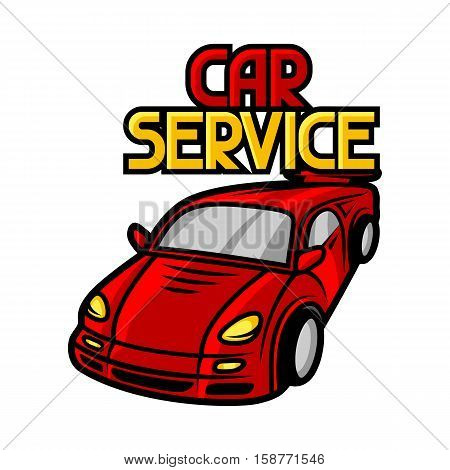 Service center business illustration. Repair concept for advertising.