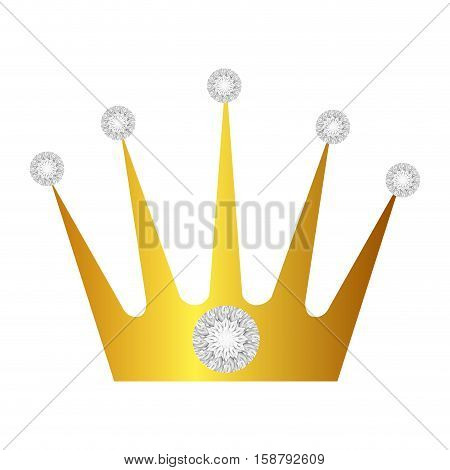 crown with diamonds isolated icon vector illustration design