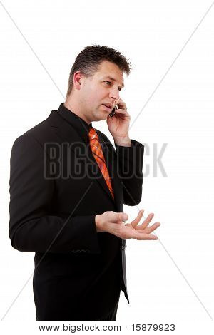 Businessman Is Calling On The Phone