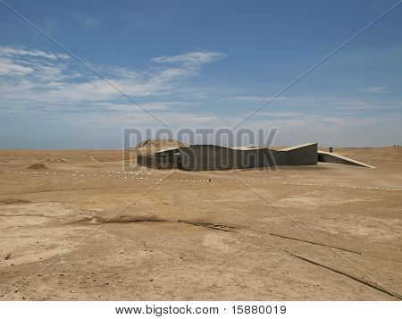 Modern architecture in Peru desert