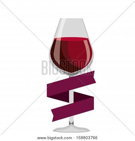 delicious wine cup drink vector illustration design