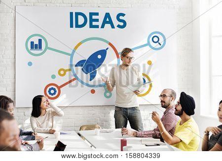 Ideas Fresh Brainstorming Creative Strategy Concept