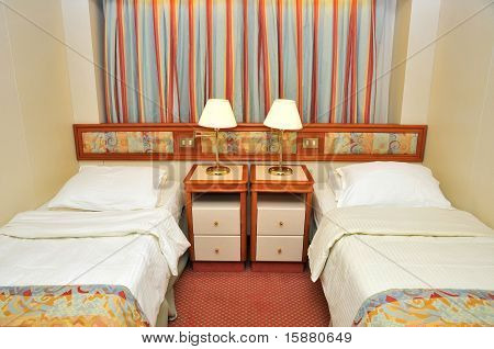 Front View Of Luxurious Resort Room