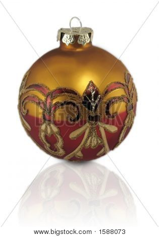 Gold Red Ornament