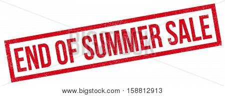 End Of Summer Sale Rubber Stamp