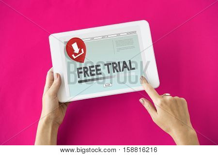 Free Trial Latest Update Download Concept