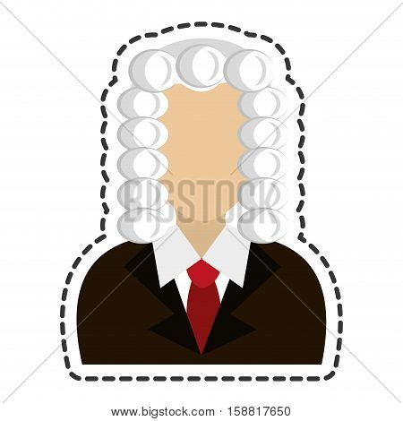 judge avatar character icon vector illustration design