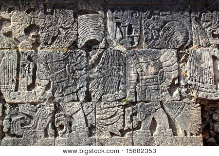 Chichen Itza hieroglyphics mayan pok ta pok ball court  Mexico
