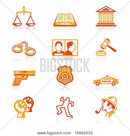 Law and order icons | JUICY series