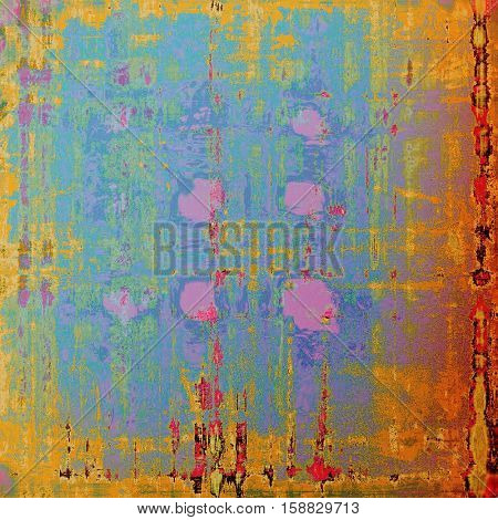 Art grunge background, vintage style textured frame. With different color patterns: yellow (beige); brown; green; blue; red (orange); pink