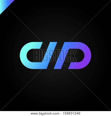 Letter D And Letter P Logo. Pd, Dp Initial Icon Letter Logotype