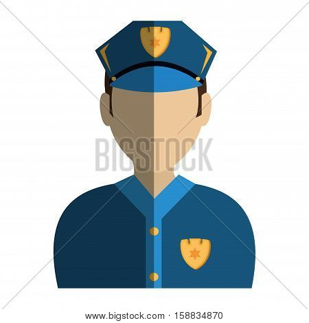 police agent avatar character vector illustration design