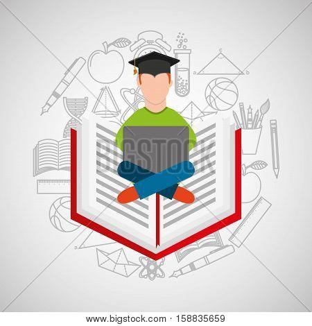 eduation online concept e-learning school background vector illustration eps 10